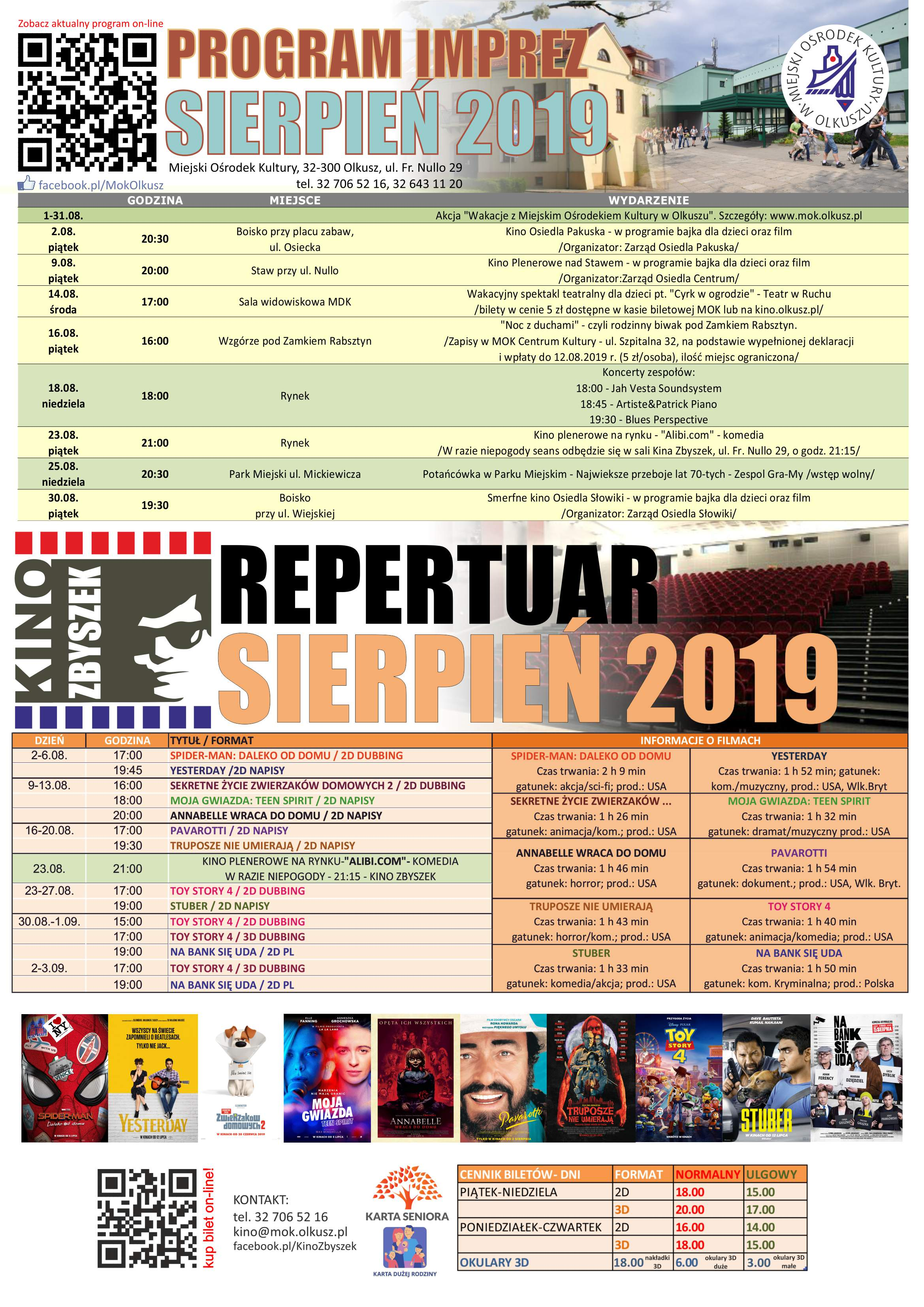program i repertuarMOK sierpien 2019 www